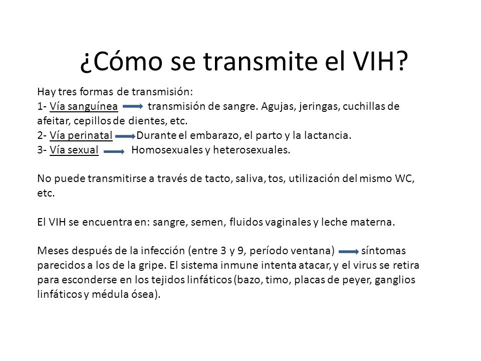 ¿Cómo se transmite el VIH