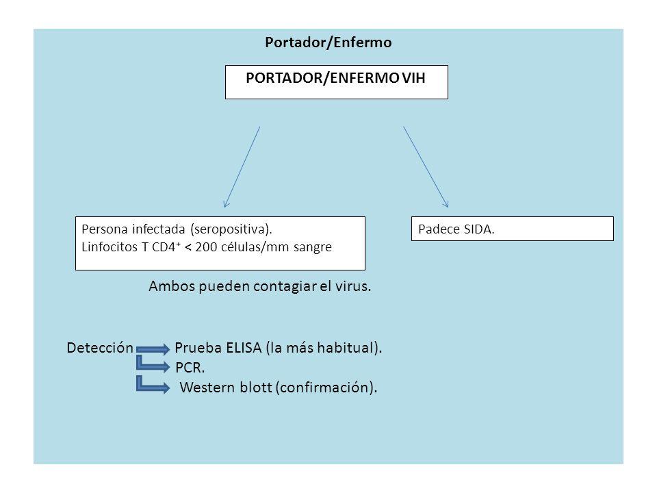 Portador/Enfermo PORTADOR/ENFERMO VIH