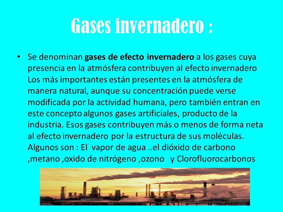 Gases invernadero :