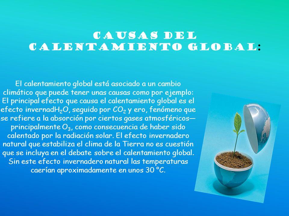 Causas del calentamienTo global: