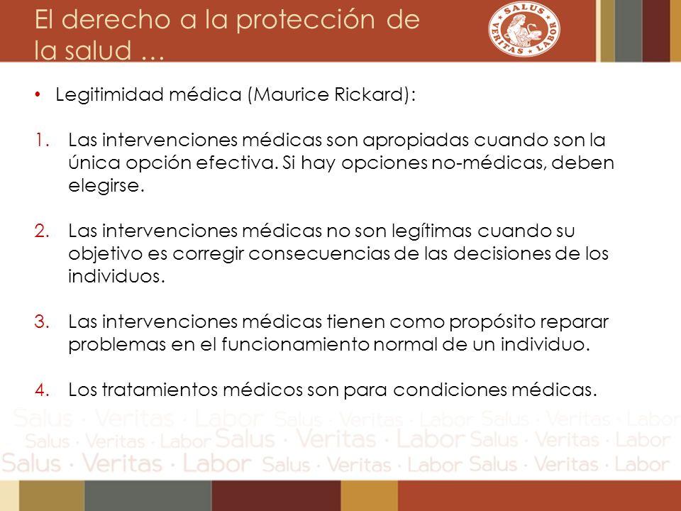 El derecho a la protección de la salud …