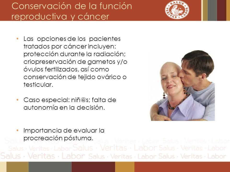Conservación de la función reproductiva y cáncer