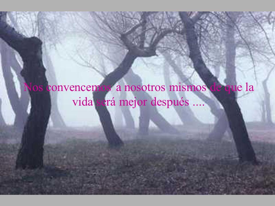 Nos convencemos a nosotros mismos de que la vida será mejor después ....