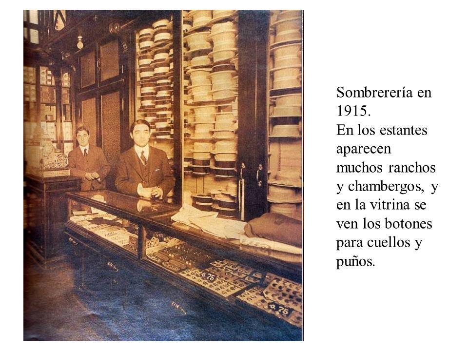 Sombrerería en 1915.