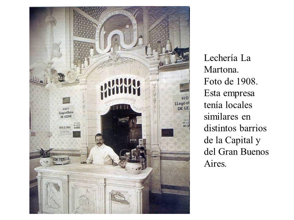 Lechería La Martona. Foto de 1908.