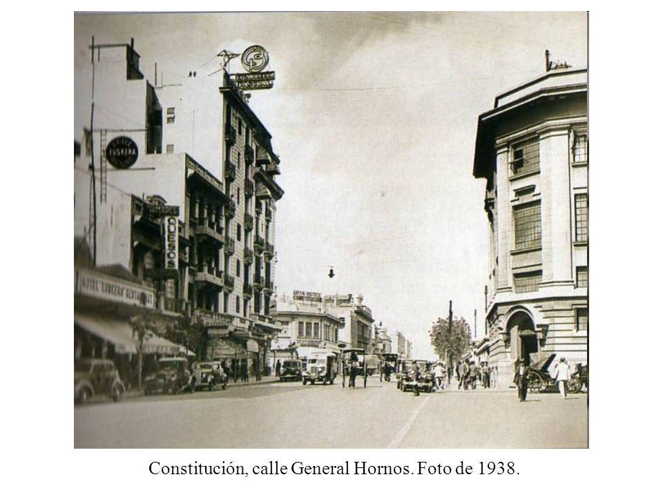 Constitución, calle General Hornos. Foto de 1938.