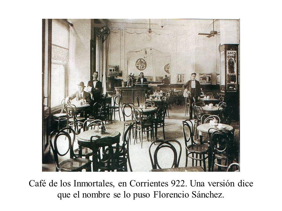 Café de los Inmortales, en Corrientes 922