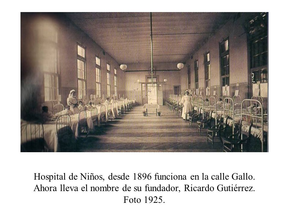 Hospital de Niños, desde 1896 funciona en la calle Gallo