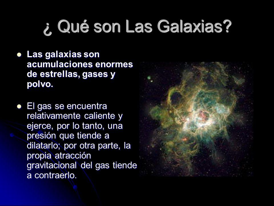 ¿ Qué son Las Galaxias Las galaxias son acumulaciones enormes de estrellas, gases y polvo.