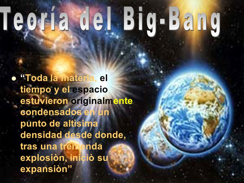 Teoría del Big-Bang