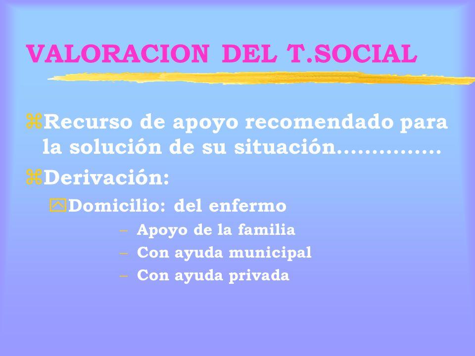 VALORACION DEL T.SOCIAL