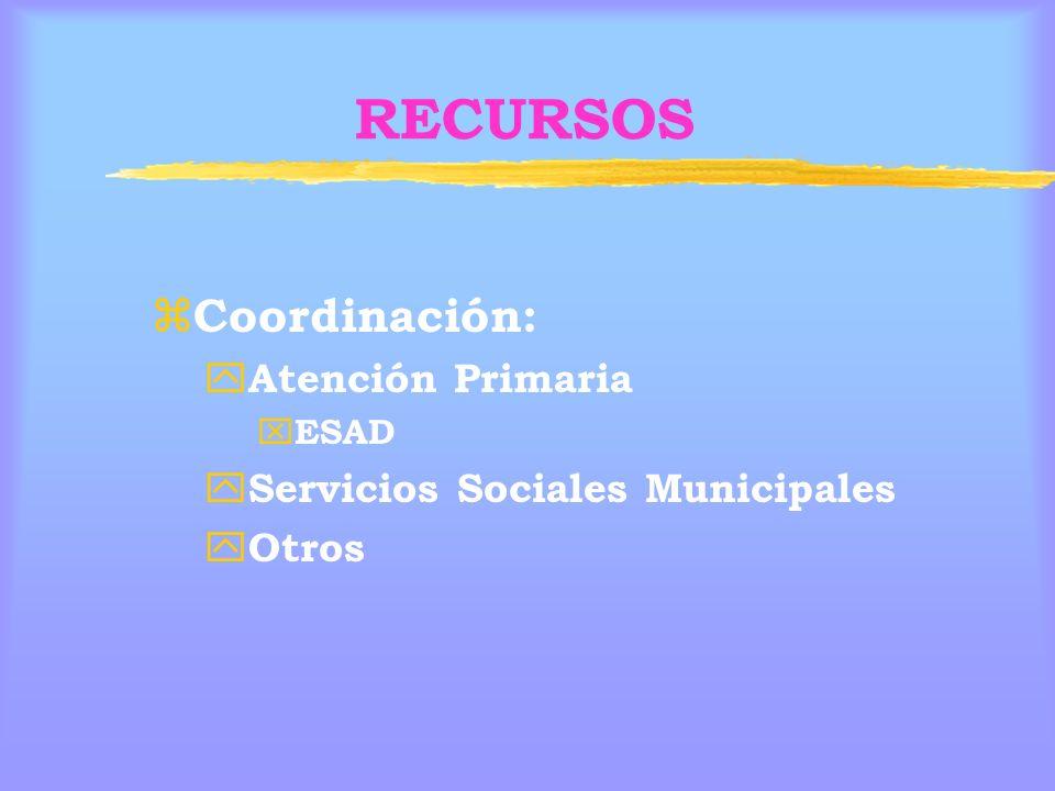 RECURSOS Coordinación: Atención Primaria