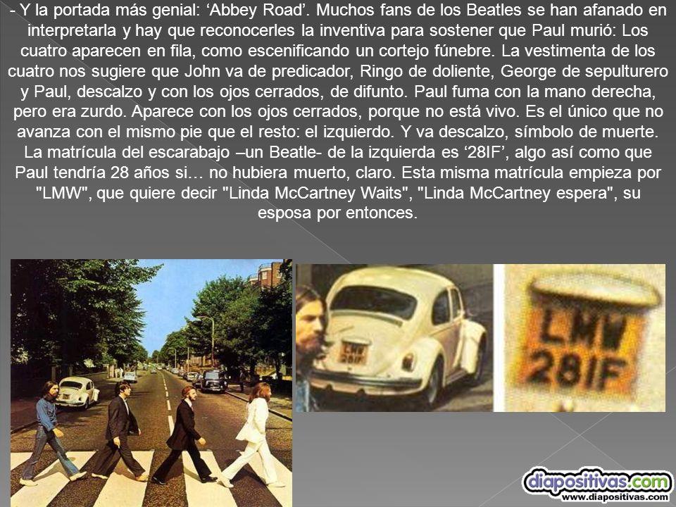 - Y la portada más genial: 'Abbey Road'