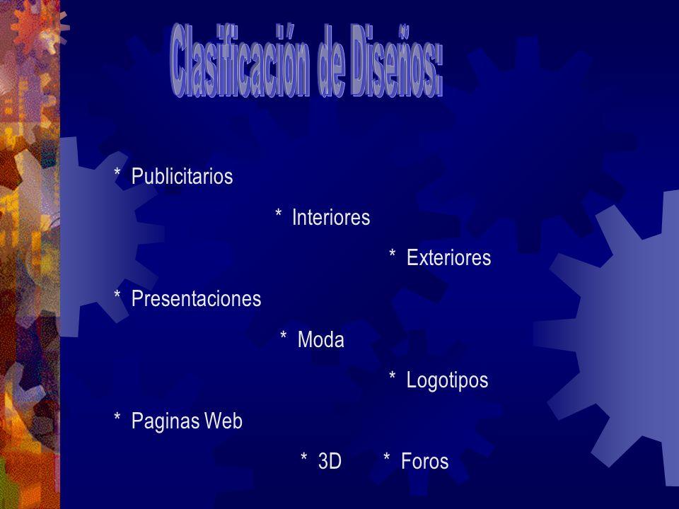 Clasificación de Diseños:
