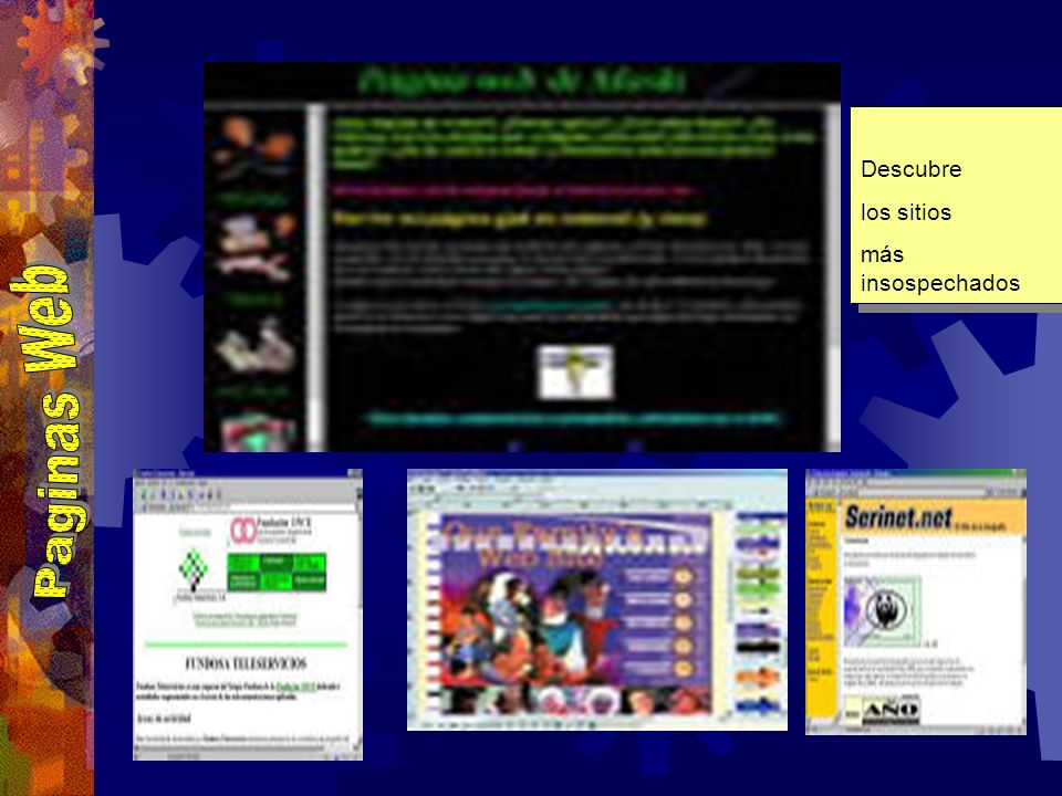 Descubre los sitios más insospechados Paginas Web