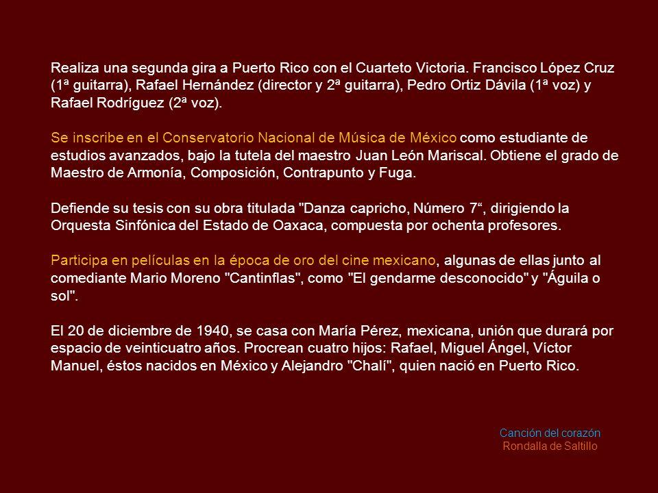 Realiza una segunda gira a Puerto Rico con el Cuarteto Victoria