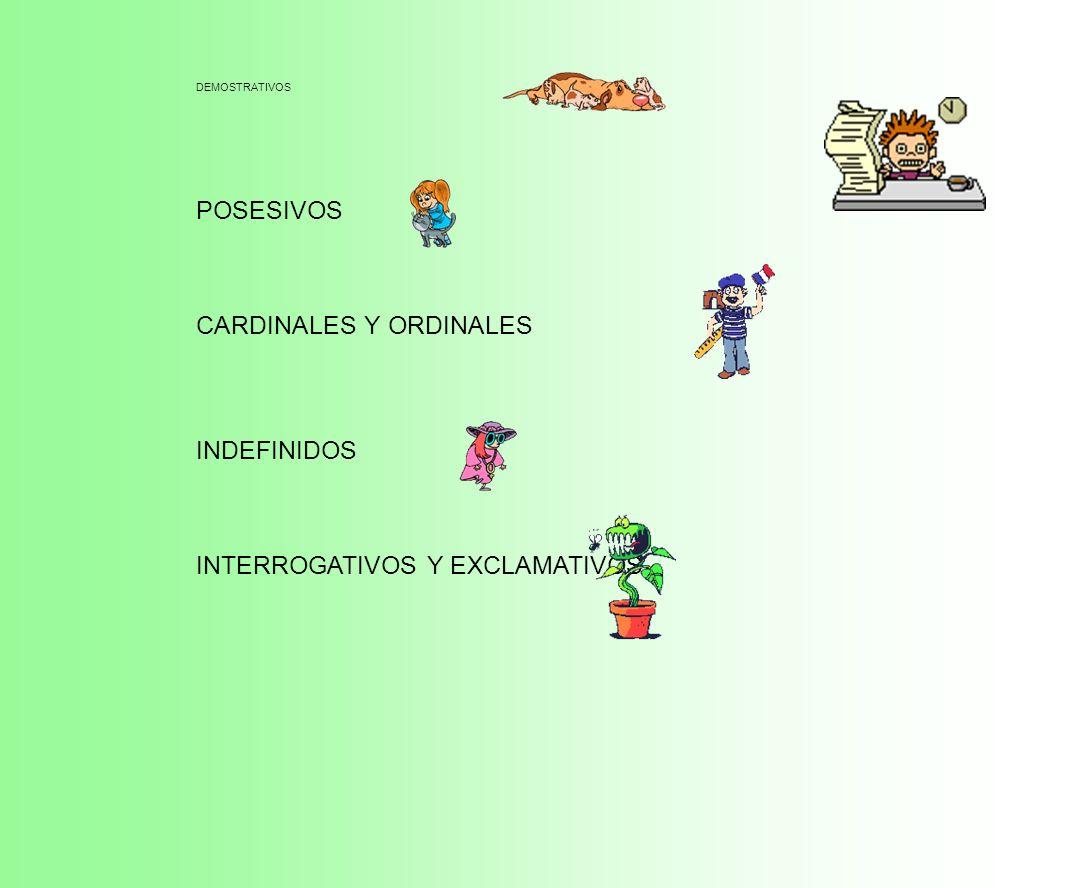 CARDINALES Y ORDINALES