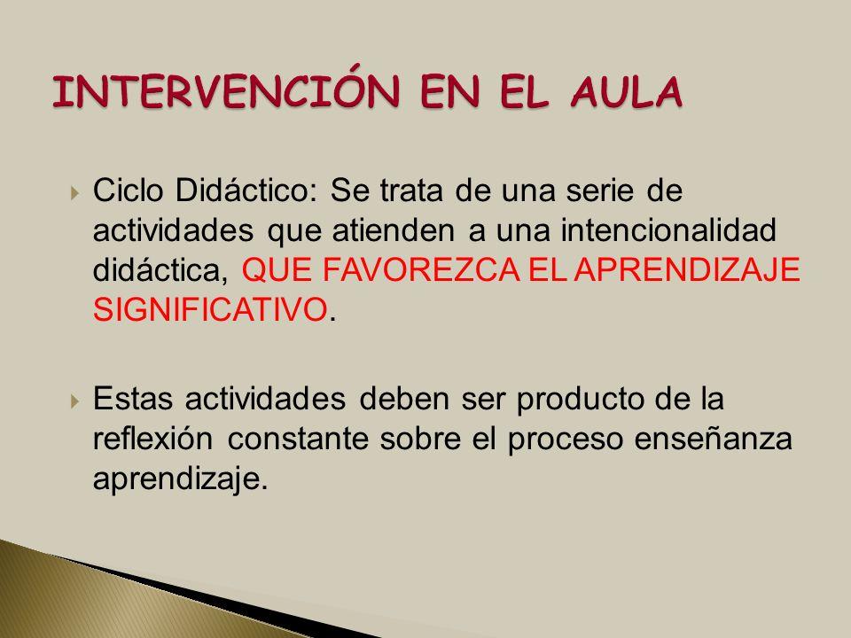 INTERVENCIÓN EN EL AULA