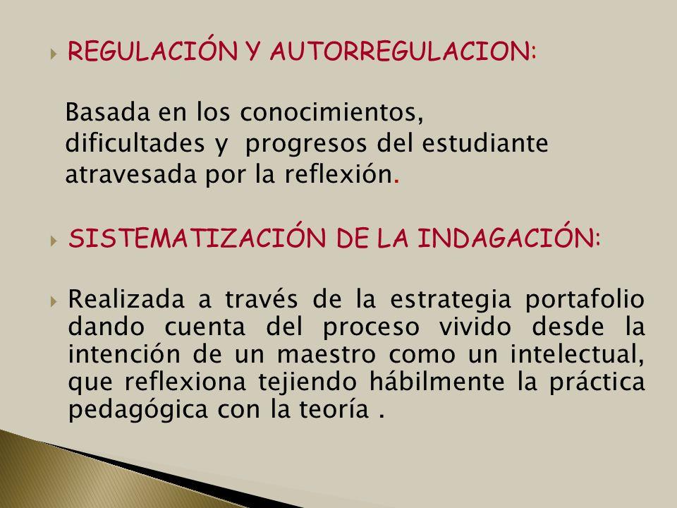 REGULACIÓN Y AUTORREGULACION: