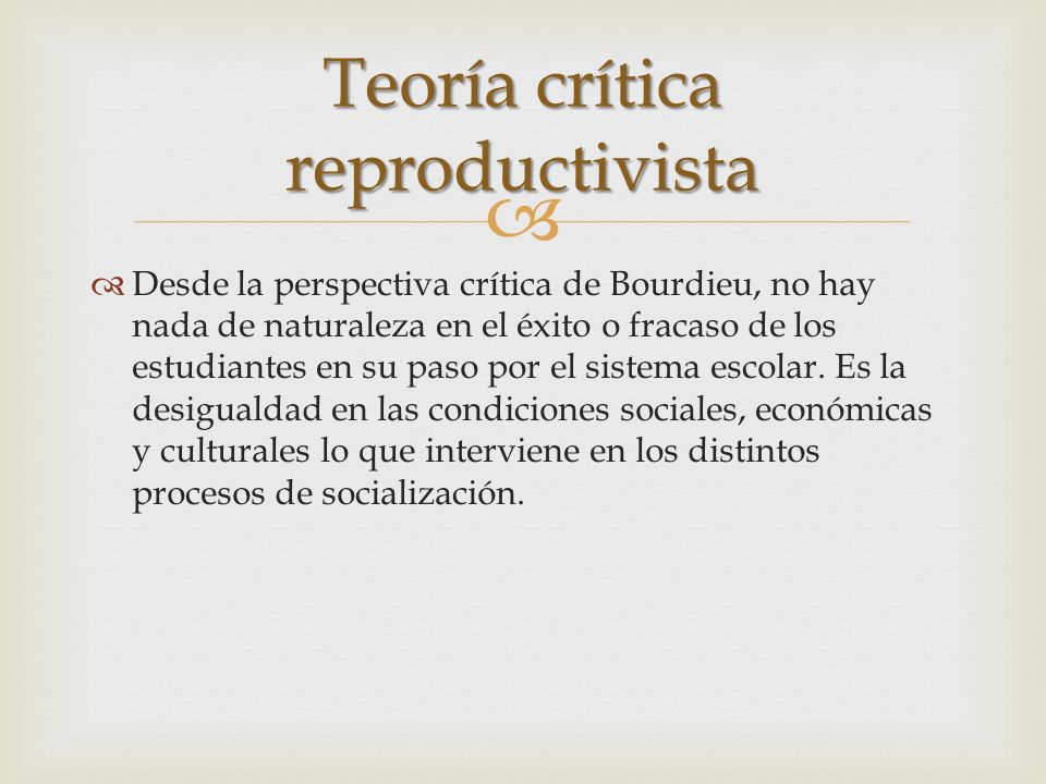 Teoría crítica reproductivista