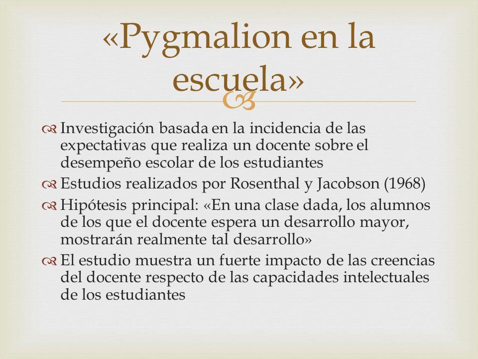 «Pygmalion en la escuela»