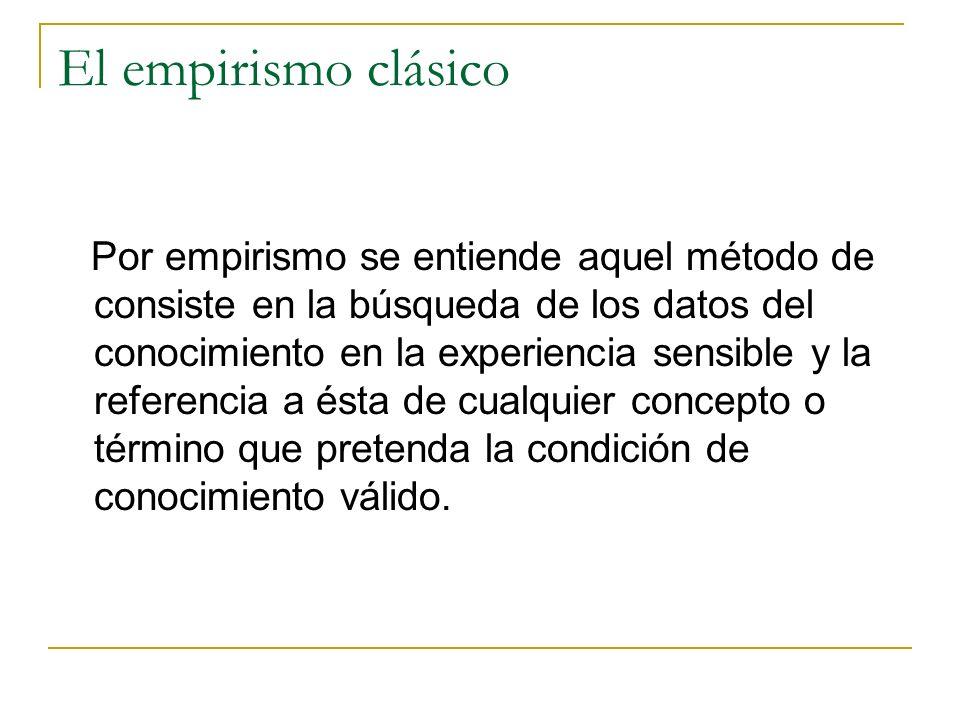 El empirismo clásico