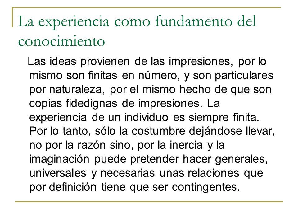 La experiencia como fundamento del conocimiento
