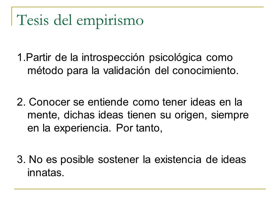 Tesis del empirismo