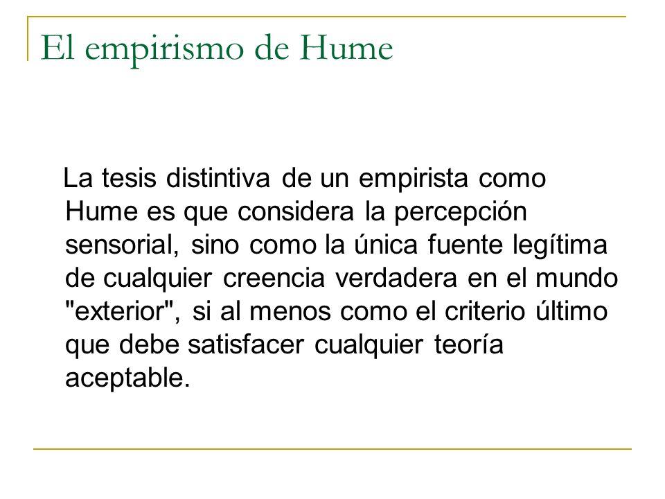 El empirismo de Hume