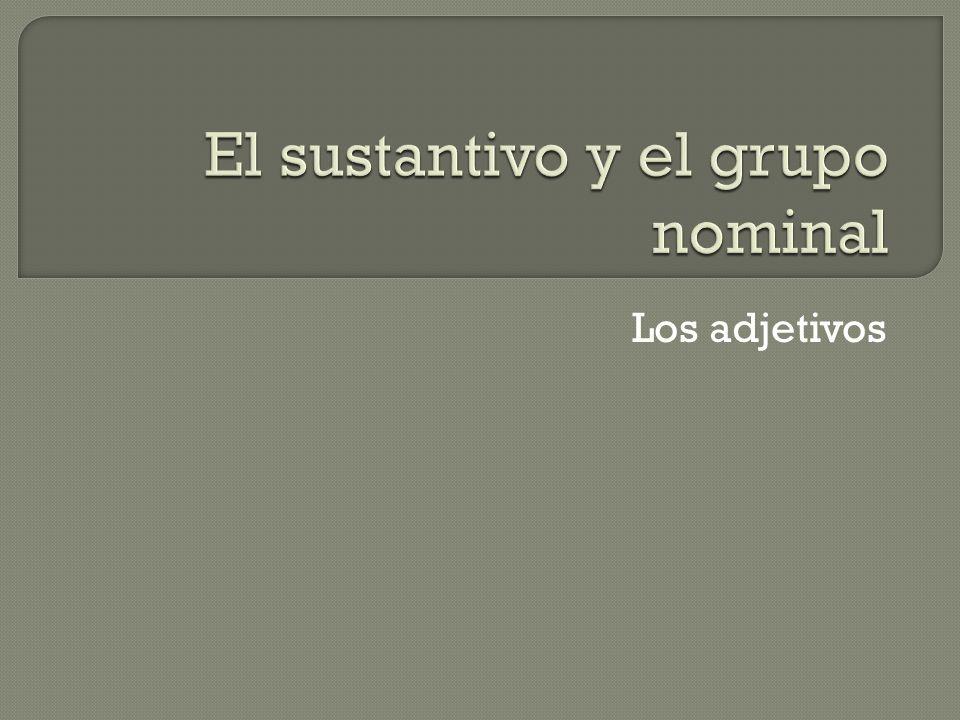 El sustantivo y el grupo nominal