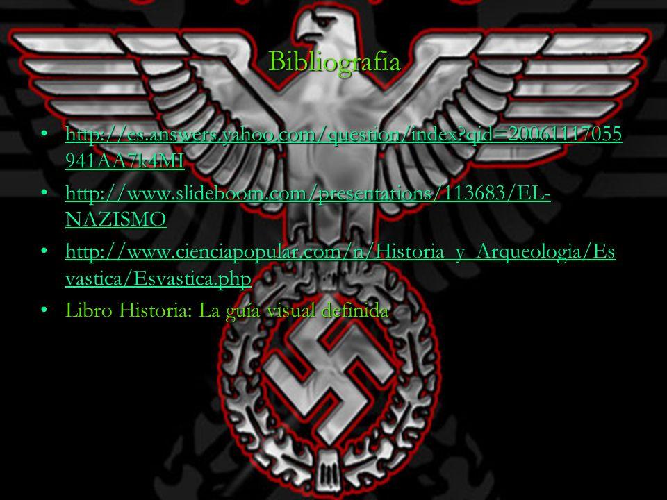 Bibliografia http://es.answers.yahoo.com/question/index qid=20061117055941AA7k4MI. http://www.slideboom.com/presentations/113683/EL-NAZISMO.