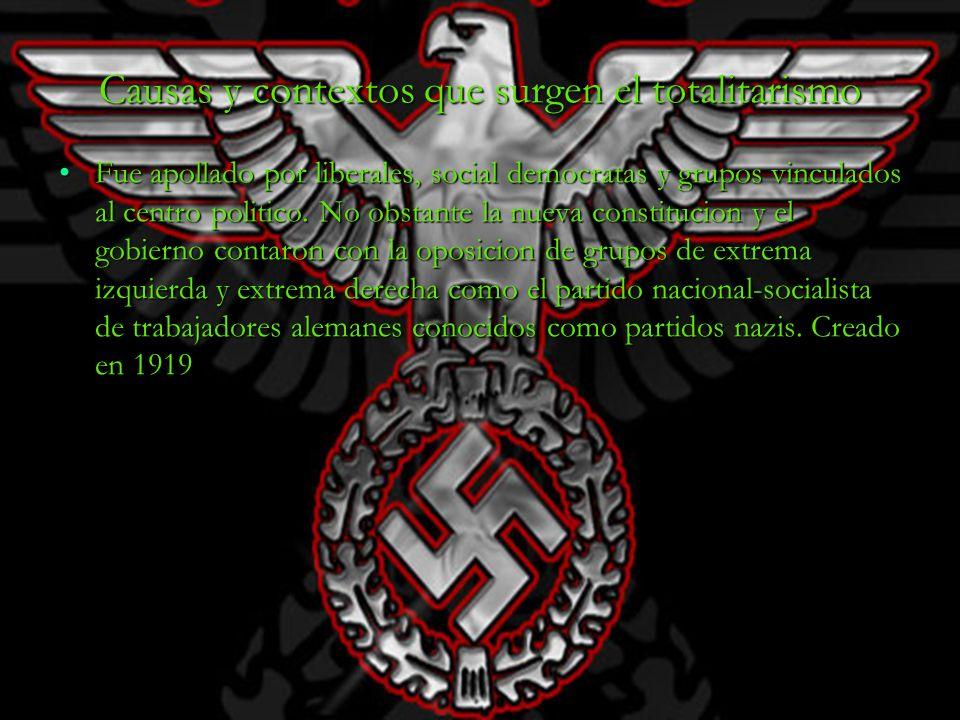 Causas y contextos que surgen el totalitarismo