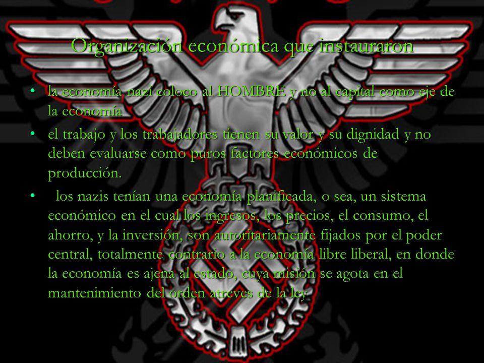 Organización económica que instauraron
