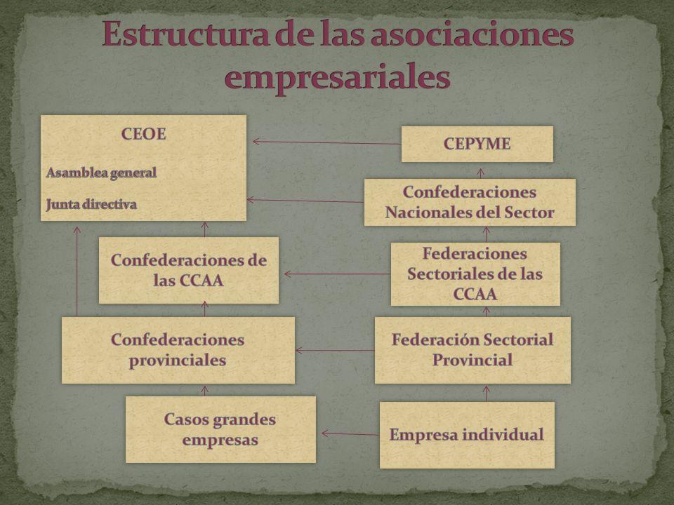 Estructura de las asociaciones empresariales