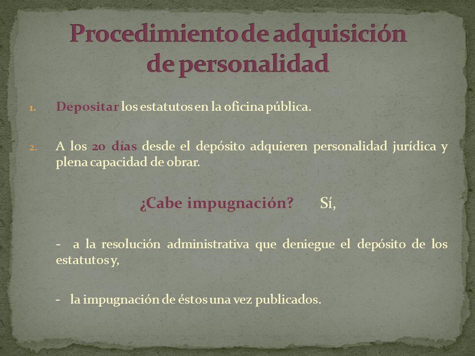 Procedimiento de adquisición de personalidad