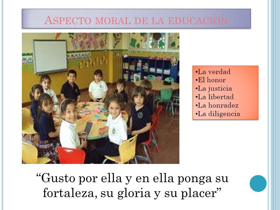 Aspecto moral de la educacion