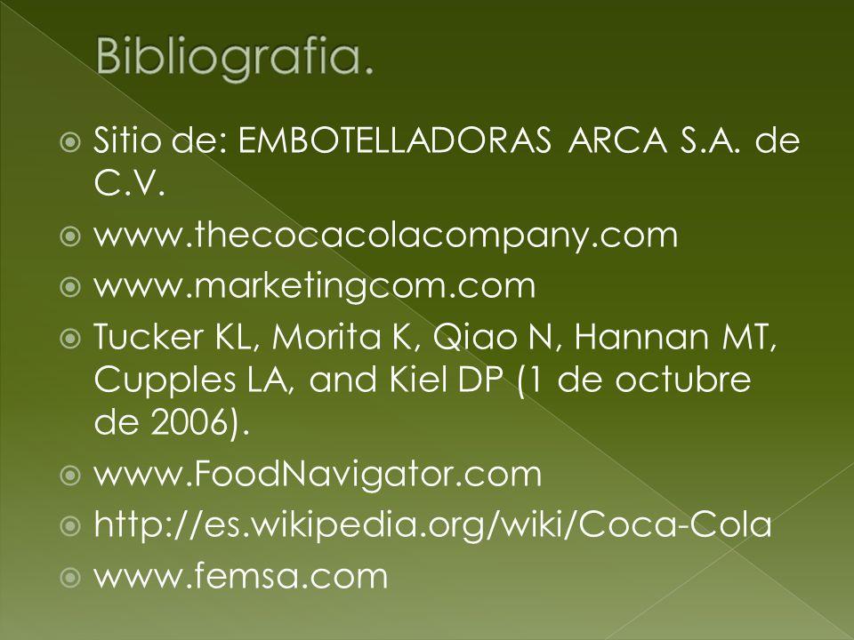 Bibliografia. Sitio de: EMBOTELLADORAS ARCA S.A. de C.V.