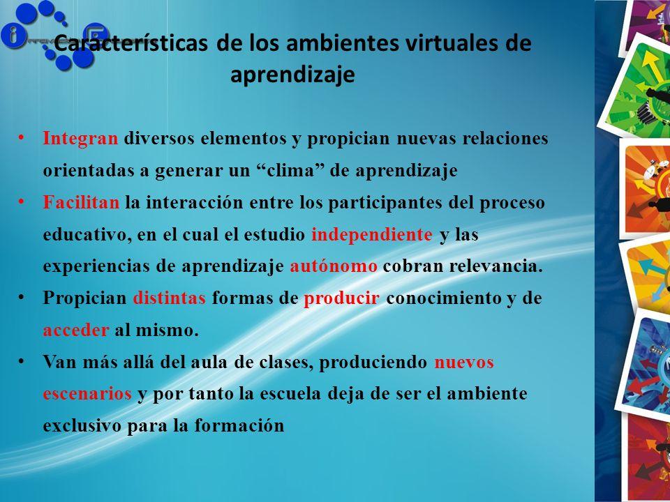 Características de los ambientes virtuales de aprendizaje