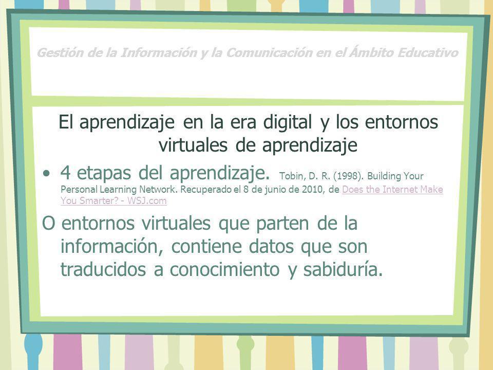Gestión de la Información y la Comunicación en el Ámbito Educativo