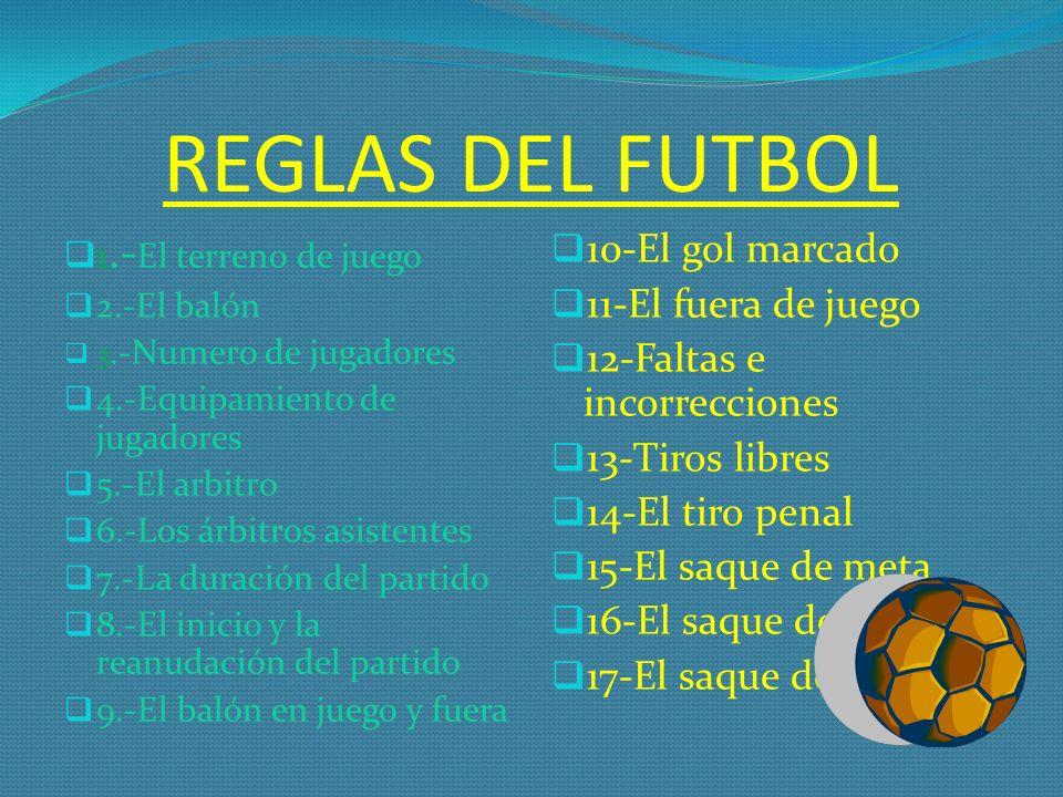 El futbol el f tbol es un deporte practicado entre dos for 10 reglas del futbol de salon