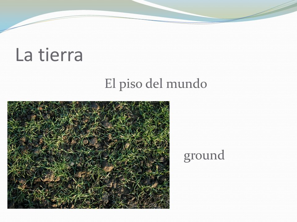 La tierra El piso del mundo ground