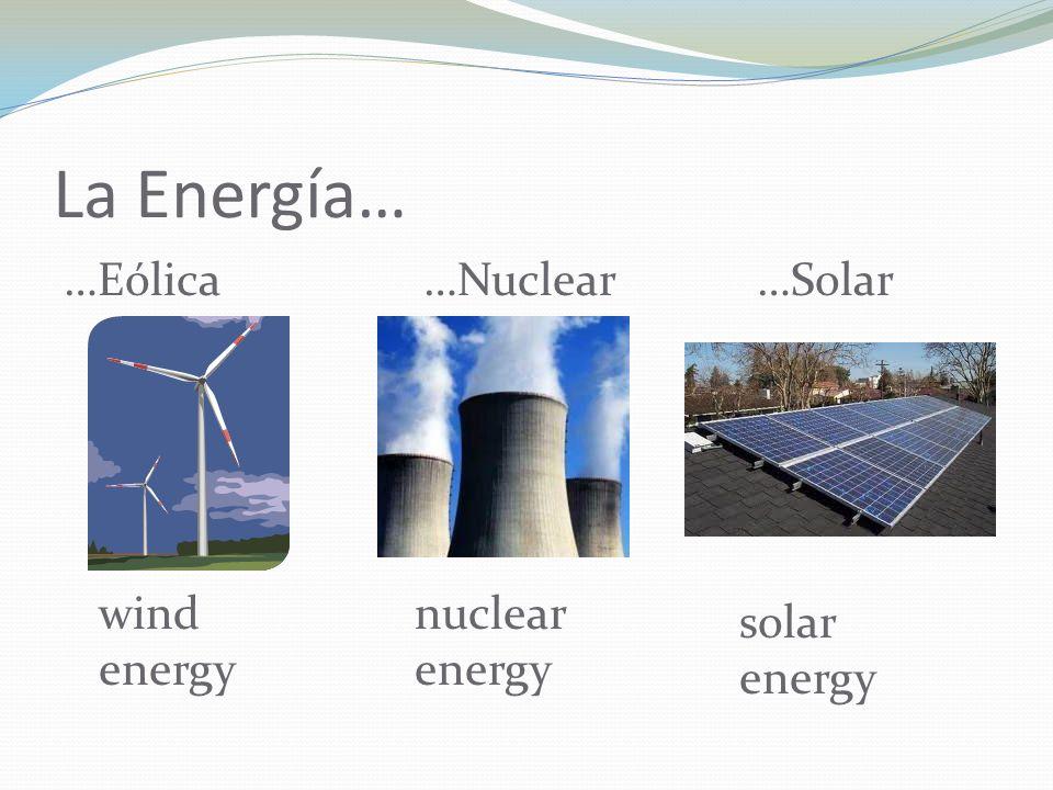 La Energía… …Eólica …Nuclear …Solar wind energy nuclear energy solar