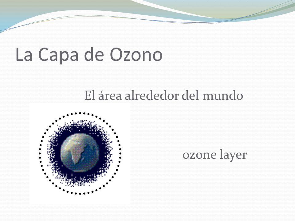 La Capa de Ozono El área alrededor del mundo ozone layer