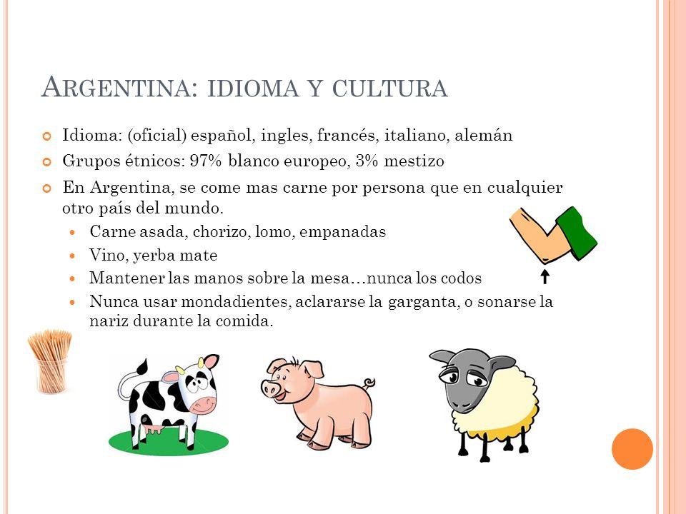 Argentina: idioma y cultura