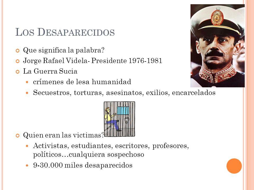 Los Desaparecidos crímenes de lesa humanidad