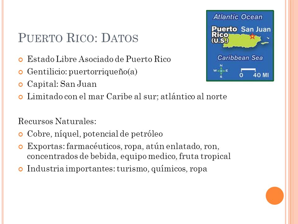 Puerto Rico: Datos Estado Libre Asociado de Puerto Rico