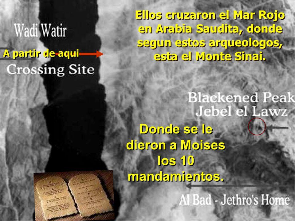 Donde se le dieron a Moises los 10 mandamientos.