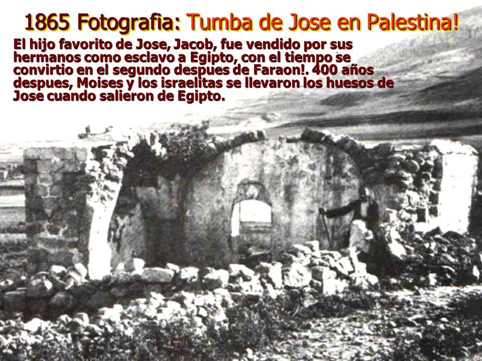 1865 Fotografia: Tumba de Jose en Palestina!