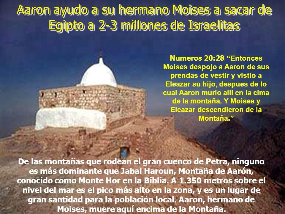 Aaron ayudo a su hermano Moises a sacar de Egipto a 2-3 millones de Israelitas