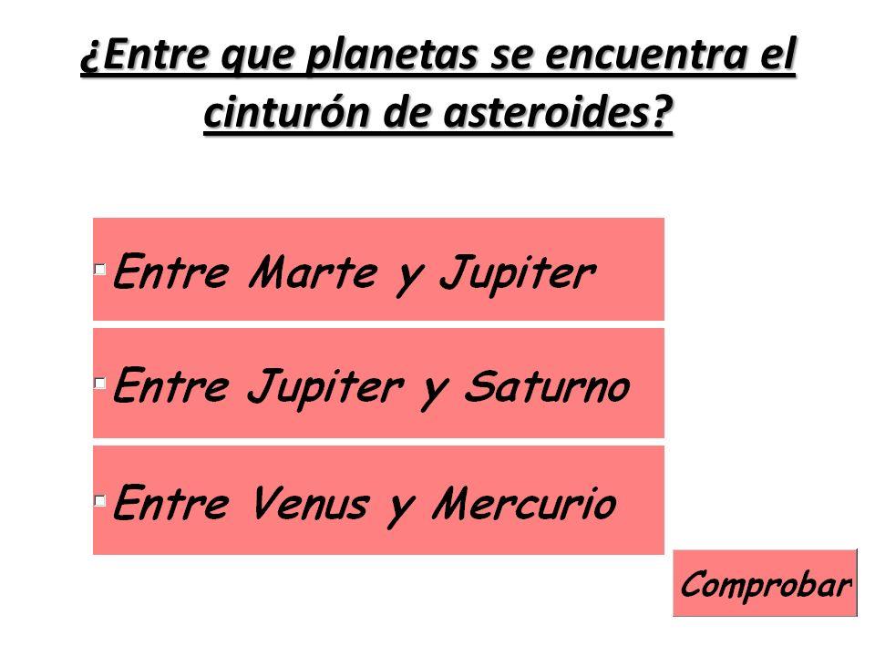 ¿Entre que planetas se encuentra el cinturón de asteroides